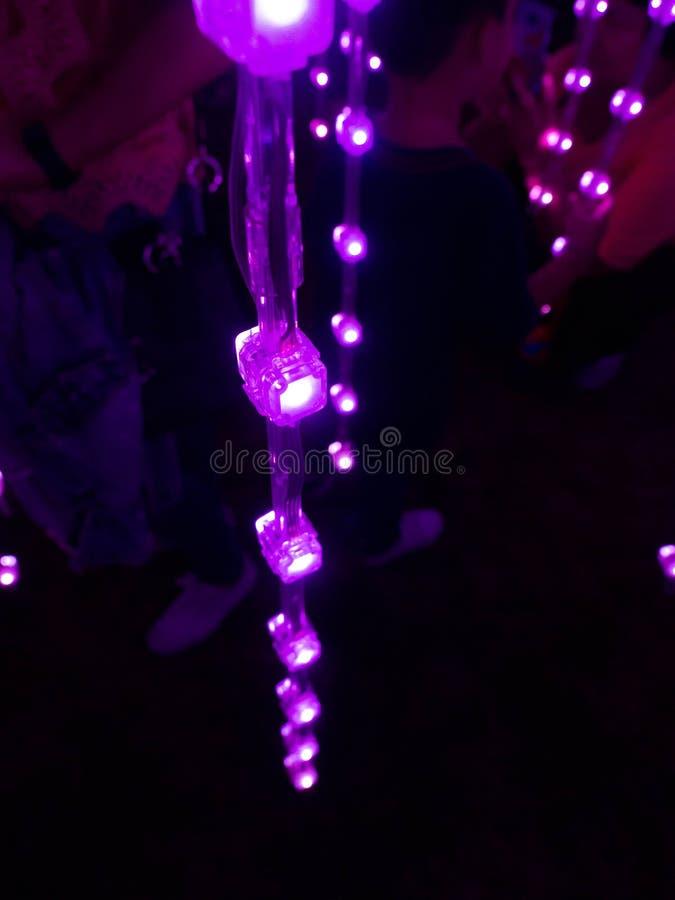 Allumage de la conception Sanam Luang ? Bangkok Tha?lande, illumination color?e image stock