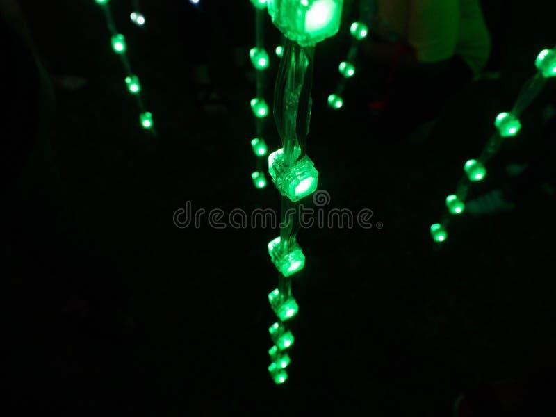 Allumage de la conception Sanam Luang ? Bangkok Tha?lande, illumination color?e photo stock