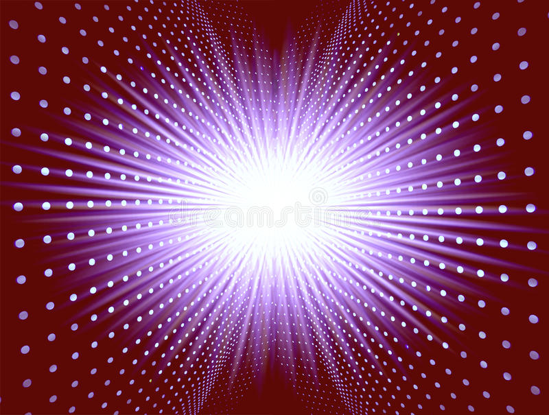Allumage de la superposition avec l'étoile photographie stock libre de droits