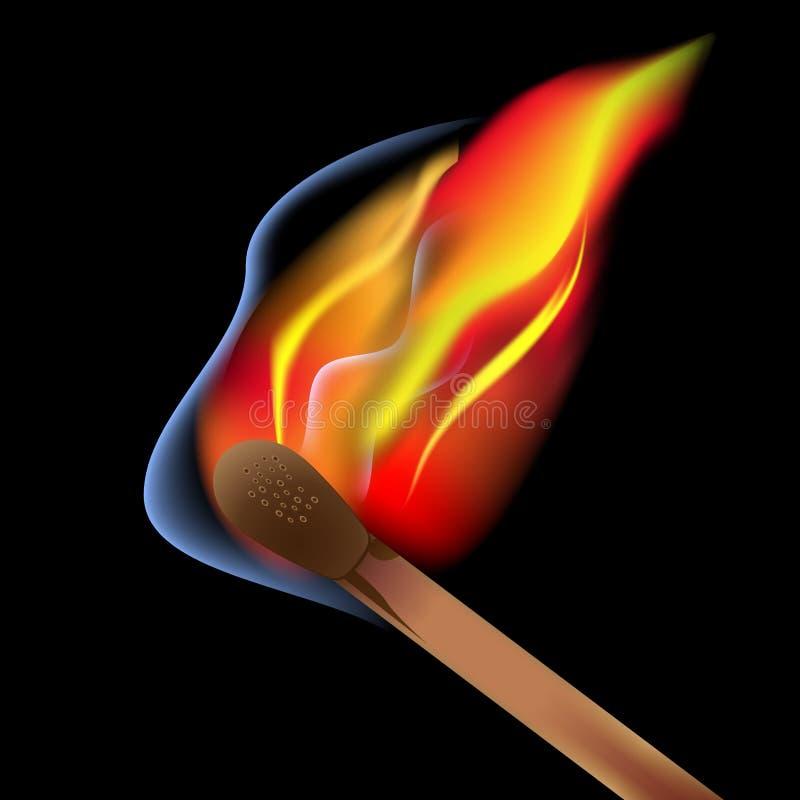 Download Allumette brûlante illustration stock. Illustration du bois - 56486807
