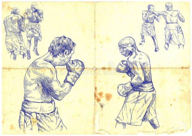 Allumette de boxe illustration stock