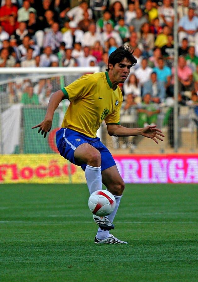Allumette de football amicale Brésil contre l'Algérie photo stock