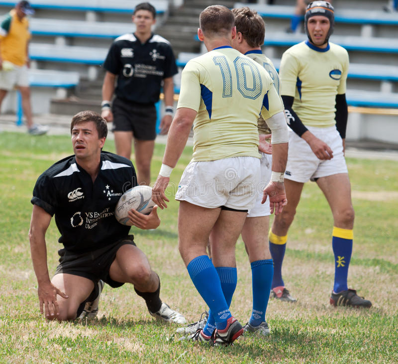Allumette de ligue de rugby images stock