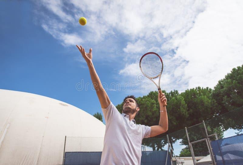 Allumette de tennis photo stock