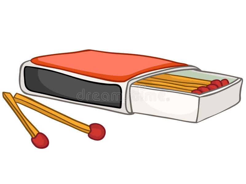 Allumettes à la maison de cuisine de dessin animé illustration de vecteur