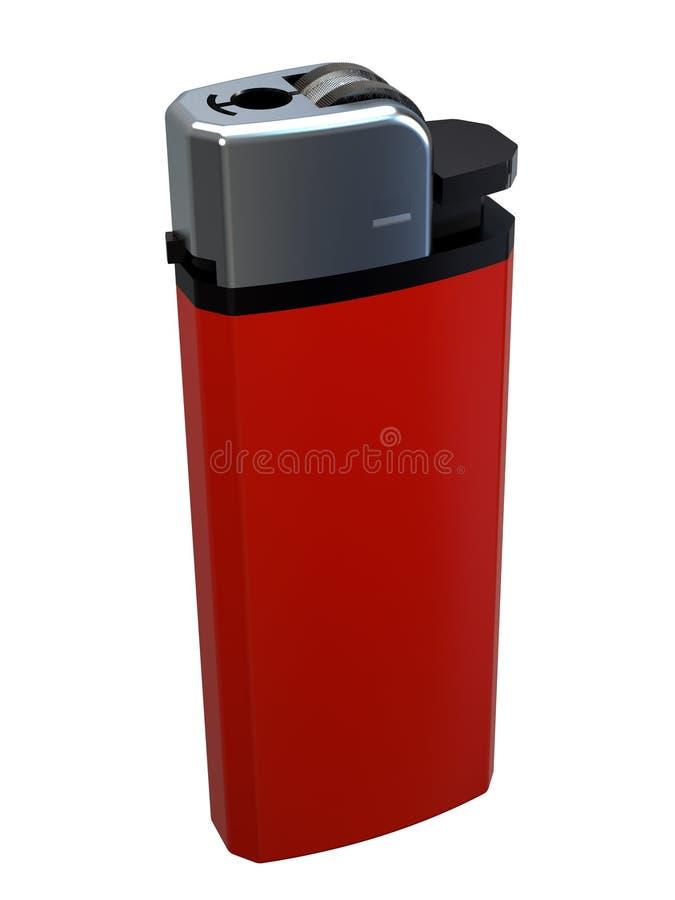allumeur rouge de la cigarette 3D photographie stock