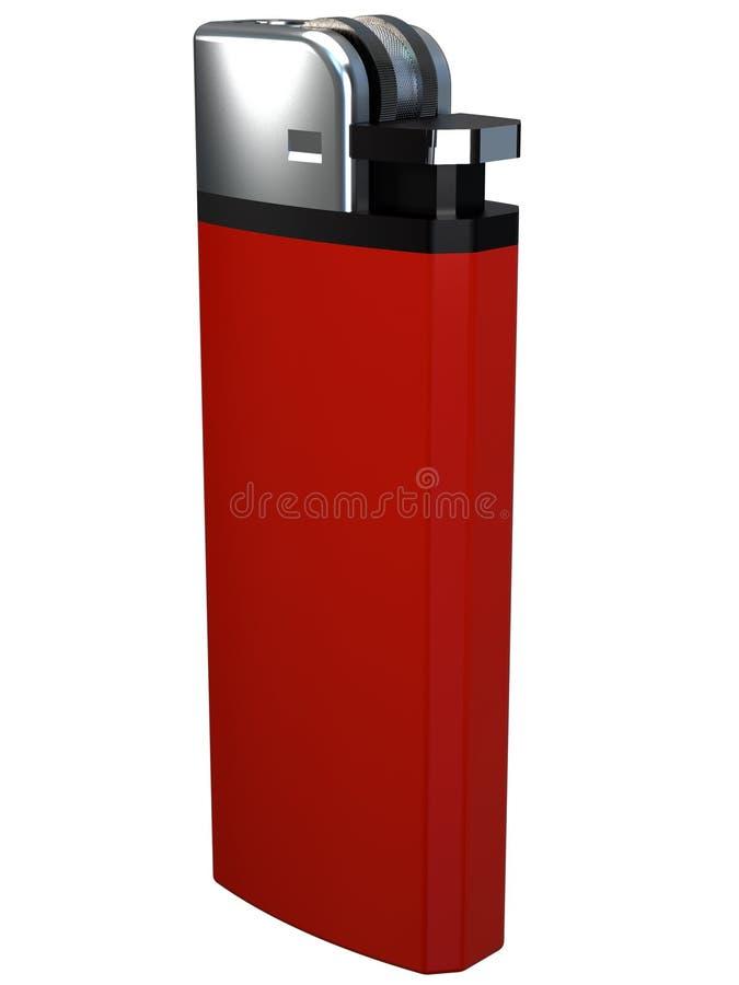 allumeur rouge de la cigarette 3D photos libres de droits