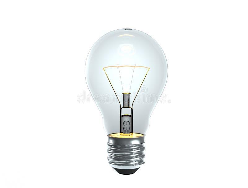 Allumez l'ampoule de tungstène illustration libre de droits