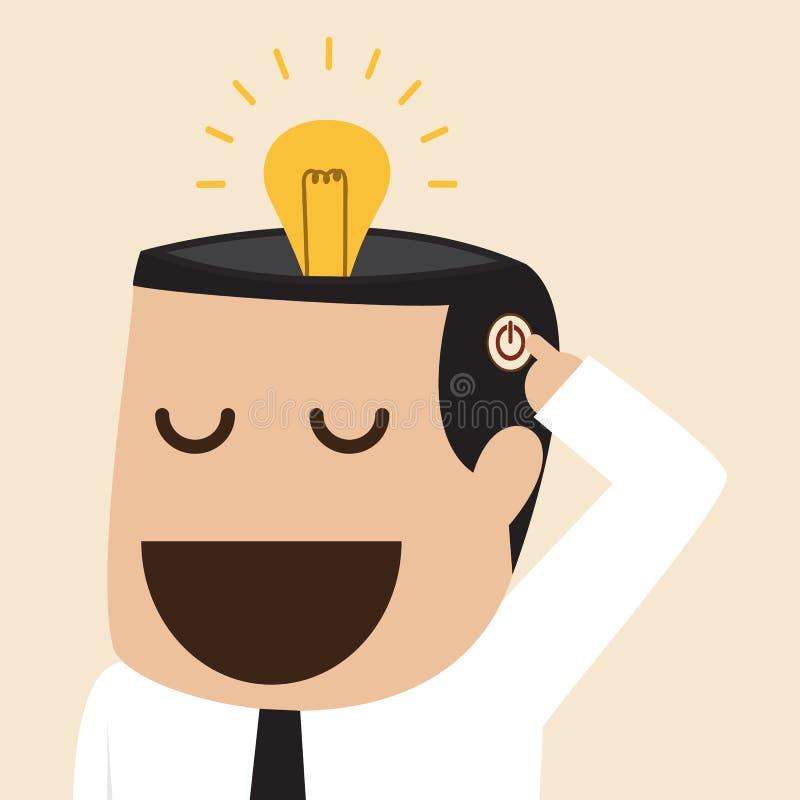 Allumez l'idée d'ampoule illustration stock