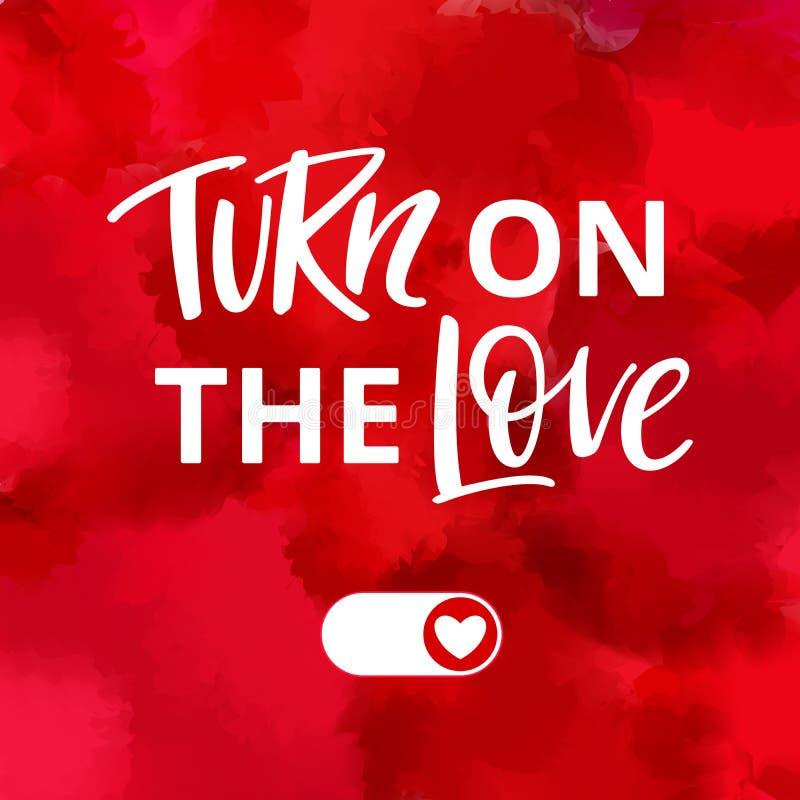 Allumez l'illustration de vecteur d'amour Concept créatif lumineux pour des cartes, des bannières et des affiches de jour de vale illustration stock