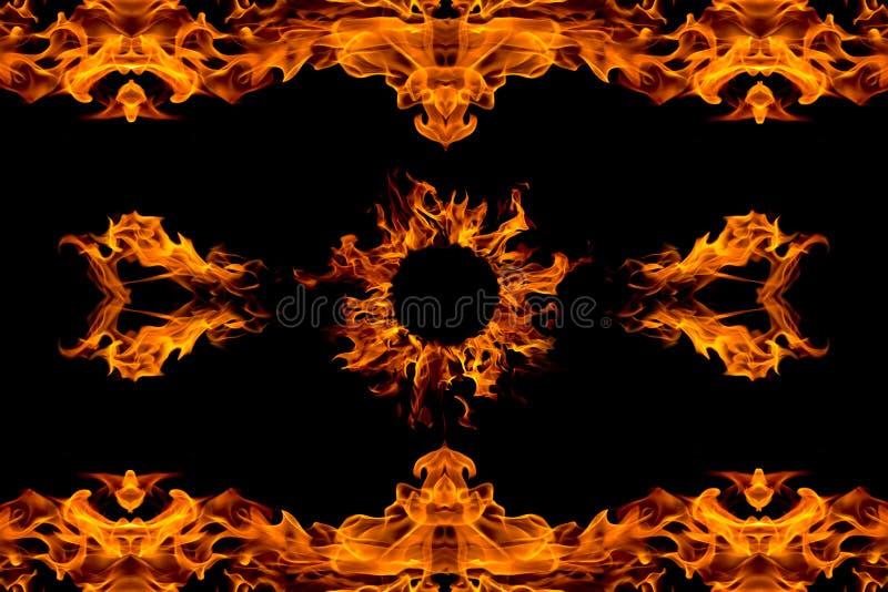 Allumez la configuration de flamme, d'isolement images libres de droits