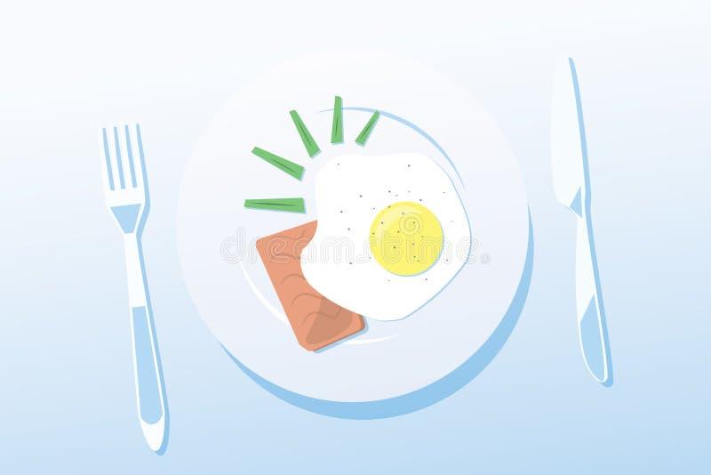 Allumez le petit déjeuner illustration stock