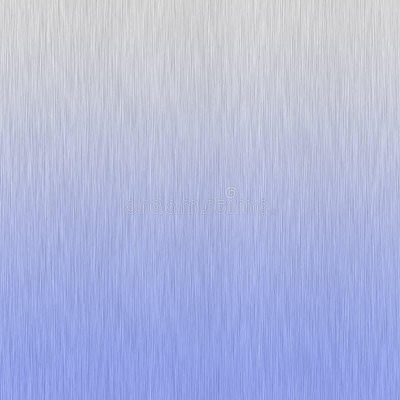 Alluminio spazzolato blu illustrazione di stock