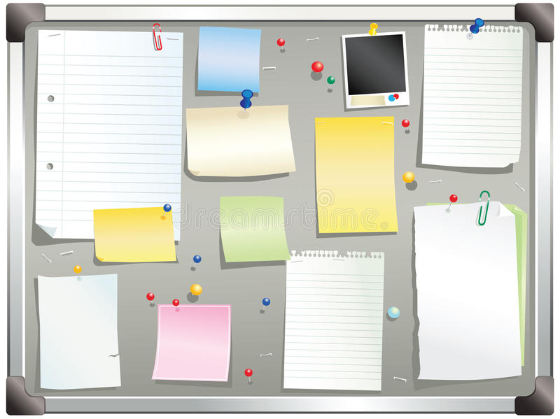 Gray notice board royalty free stock photos