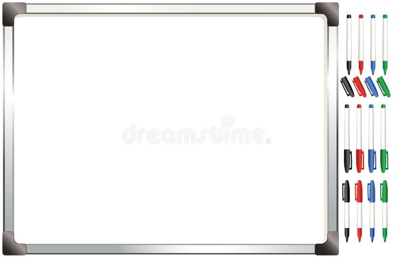 Alluminum obramiał whiteboard royalty ilustracja