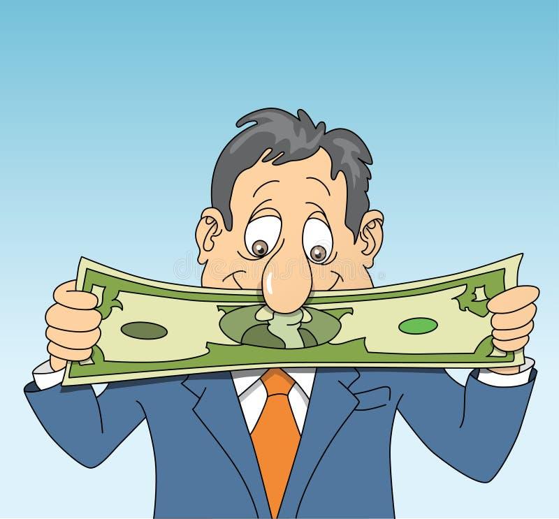 Allungamento del dollaro illustrazione vettoriale