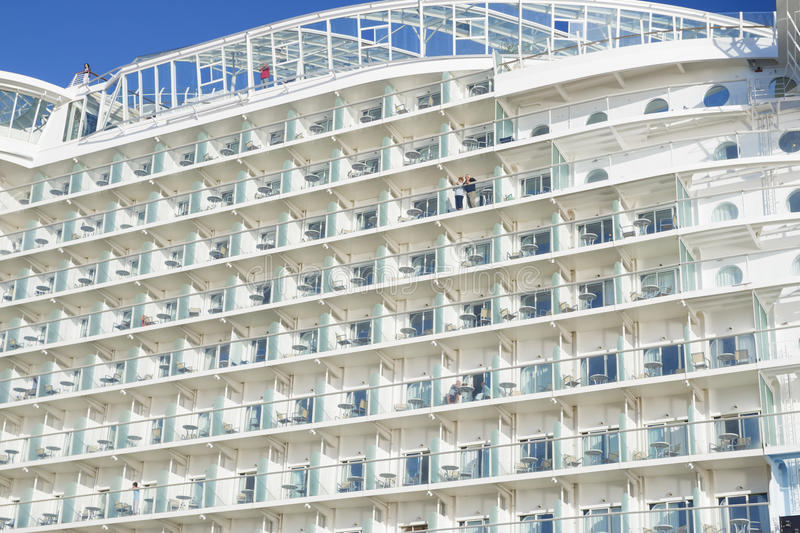 Allure of the Seas in Malaga stock images