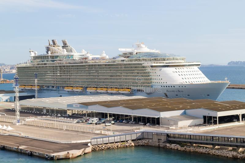 Allure of the Seas stock images