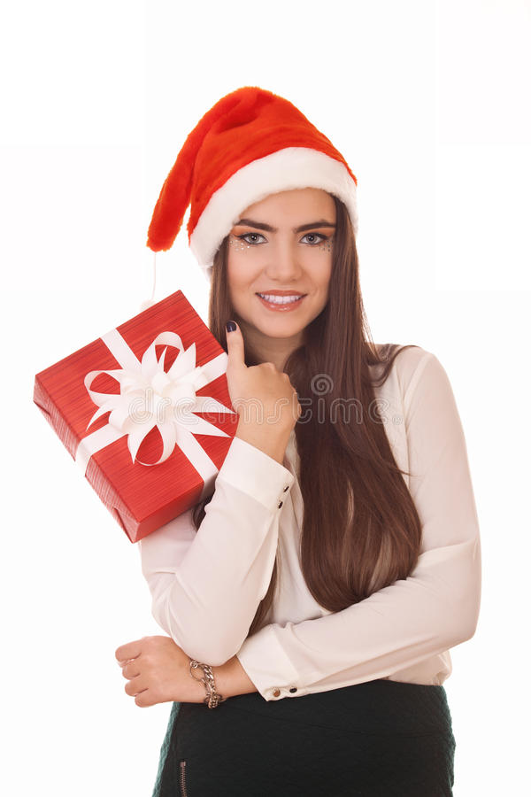 Download Alluring christmas girl stock photo. Image of gift, celebration - 27999280