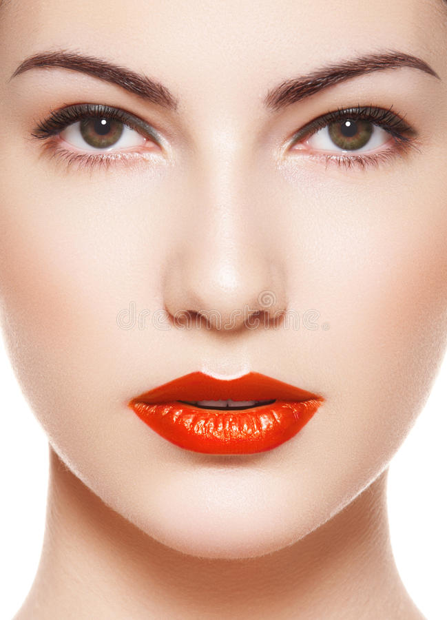 Download Alluring Model With Bright Classic Retro Make-up Stock Image - Image: 21493355