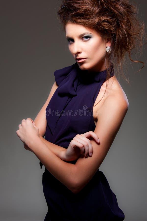 Alluring woman posing stock image
