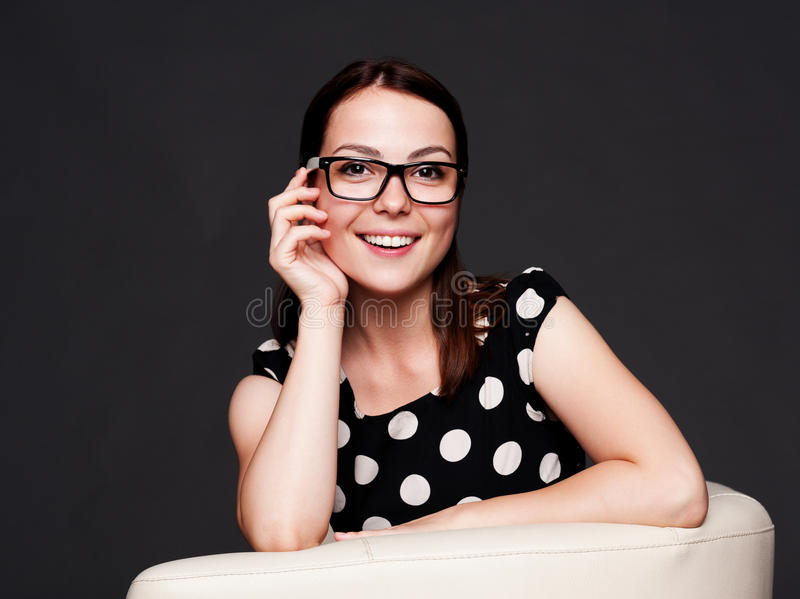 Download Alluring Young Woman In Glasses Stock Image - Image: 26244287