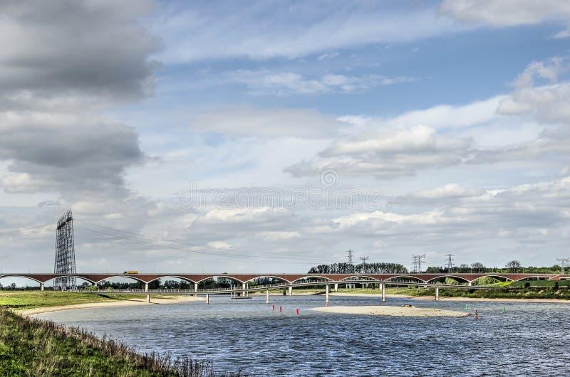 Alluviale gebieden dichtbij Nijmegen stock fotografie