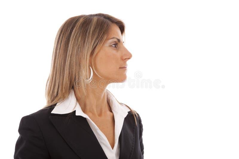 allvarlig affärskvinna royaltyfri foto