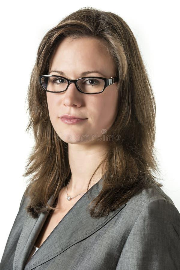 Allvarlig affärskvinna royaltyfri bild