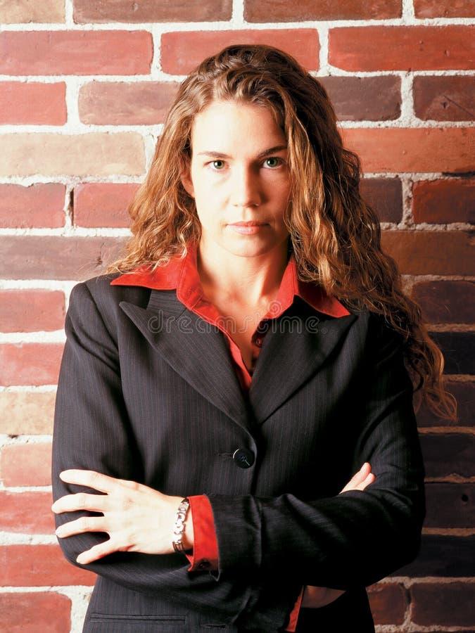 Download Allvarlig kvinna för affär fotografering för bildbyråer. Bild av bedöva - 996817
