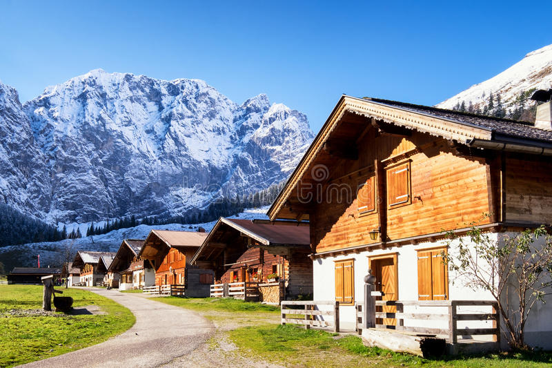 Alm inglese in Austria fotografia stock libera da diritti