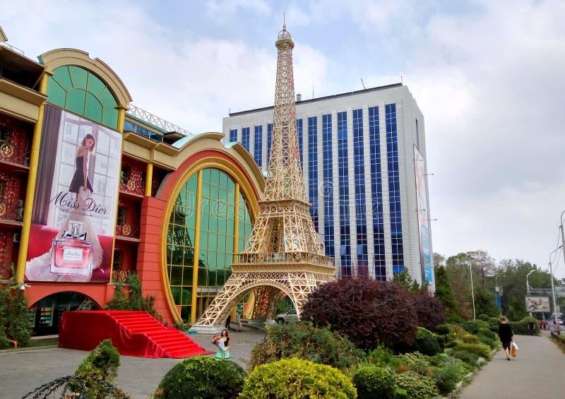Alma Ata - exemplaar van de Toren van Eiffel royalty-vrije stock afbeeldingen