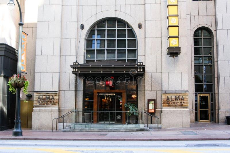 Alma Cocina, Downtown, GA. Alma Cocina, Mexican restaurant located in downtown Atlanta, GA stock photos