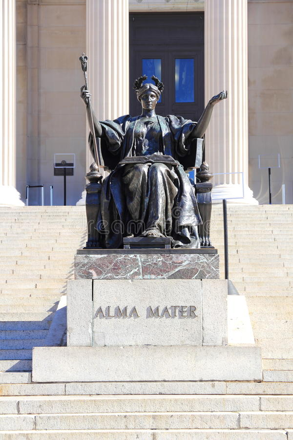 Alma Mater at Columbia University. Alma Mater's statue of the Columbia University royalty free stock photography