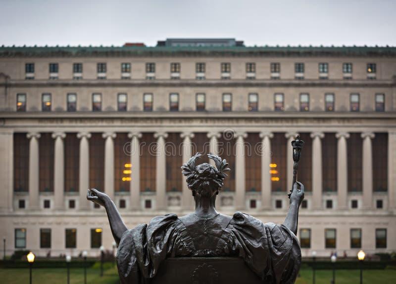 Alma Mater dell'università di Columbia, New York, U.S.A. fotografia stock