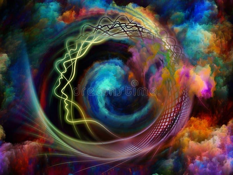 A alma morre primeiramente ilustração do vetor