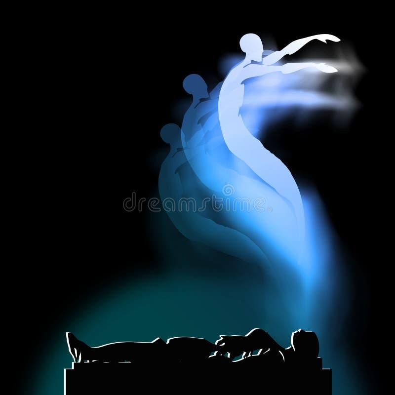 Alma y vida de la muerte después de la muerte, vida futura libre illustration