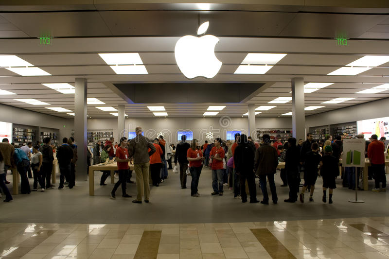 Almacén blanco negro de viernes Apple foto de archivo