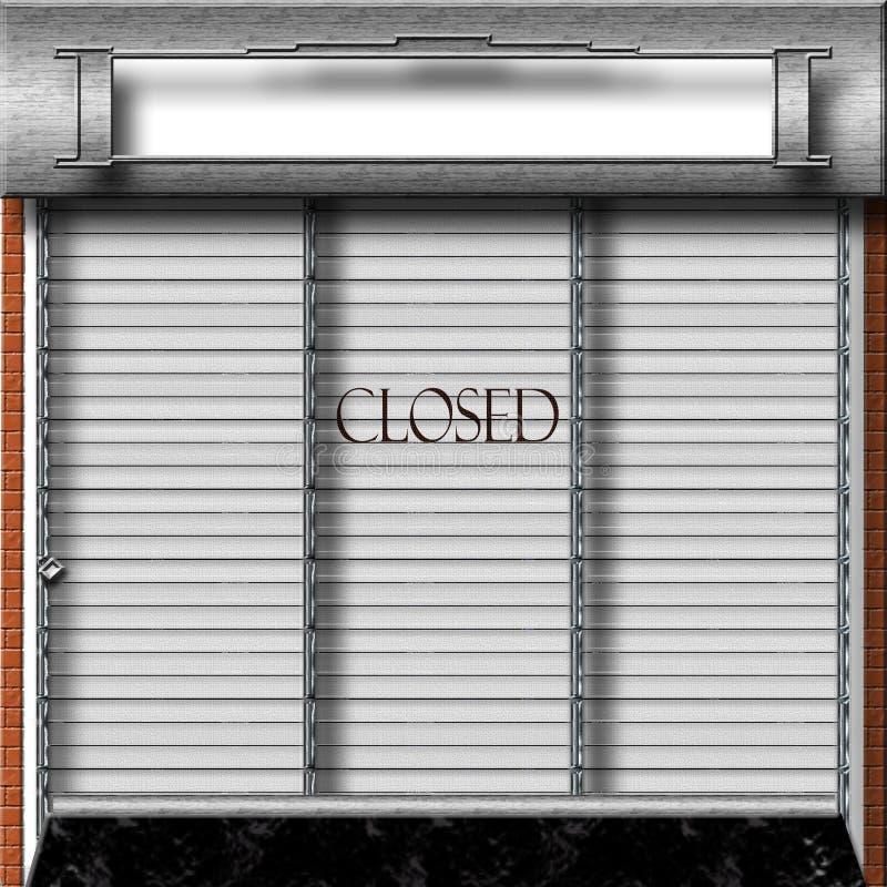 Almacén cerrado stock de ilustración