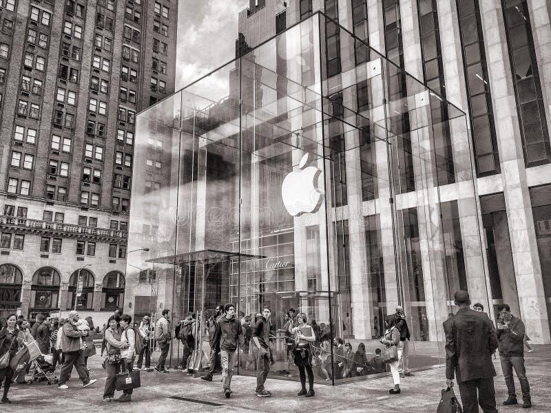 Almacén de Apple en la 5ta avenida fotos de archivo libres de regalías