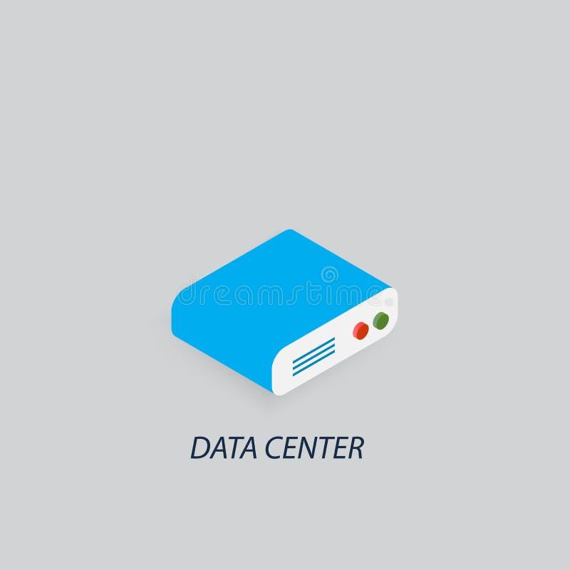 Almacén de datos del centro de datos ilustración del vector