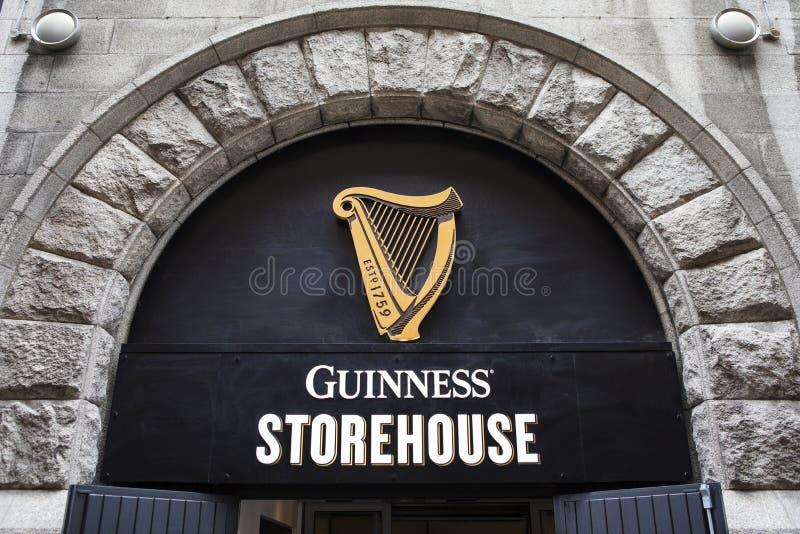 Almacén de Guinness en Dublín imagen de archivo libre de regalías