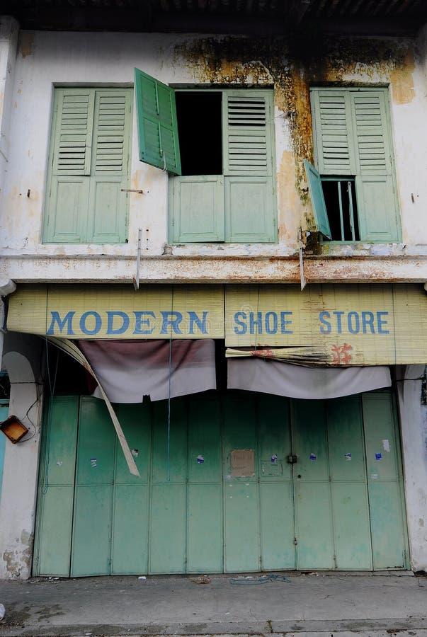 Almacén de zapato moderno fotografía de archivo