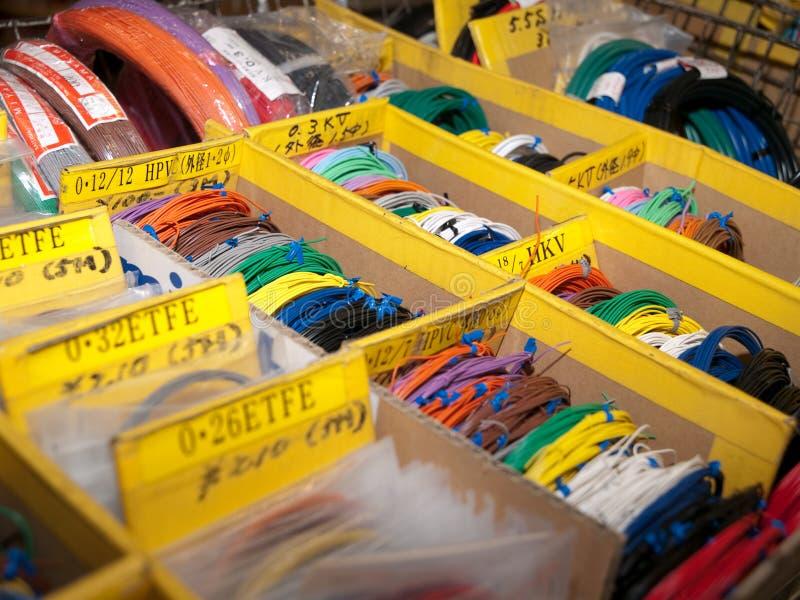 Almacén del cable de Akihabara fotos de archivo libres de regalías