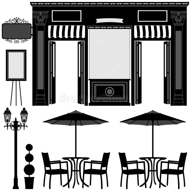 Almacén del departamento del boutique del asunto ilustración del vector