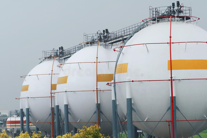 Almacén del gas natural foto de archivo