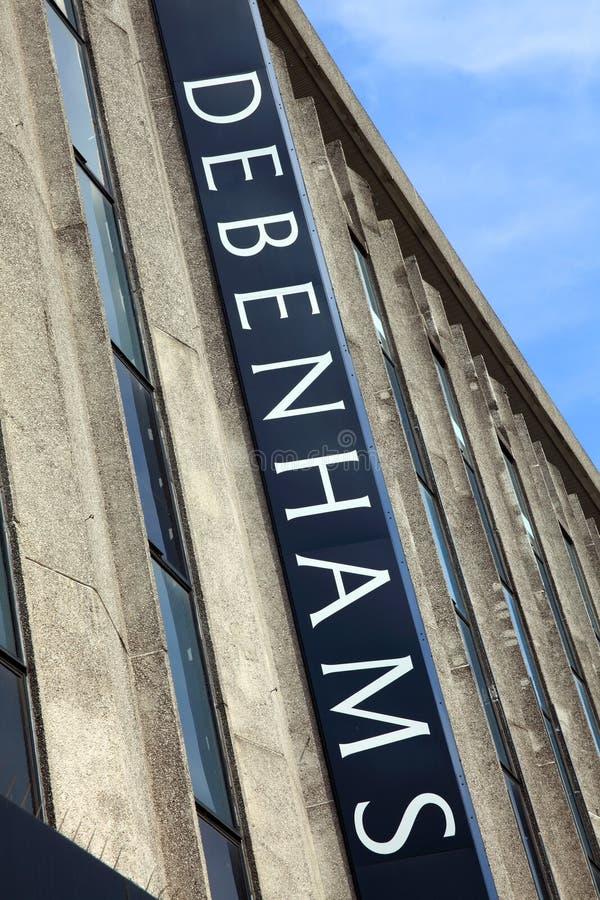 Almacén grande de Debenhams en la calle de Oxford imagen de archivo libre de regalías