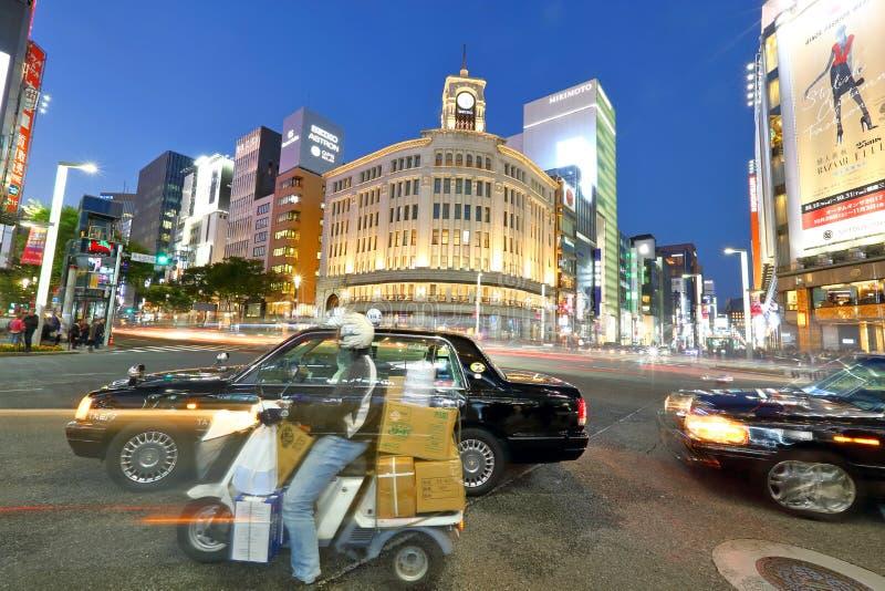 Almacén grande de Wako en Ginza, Tokio, Japón imagen de archivo libre de regalías