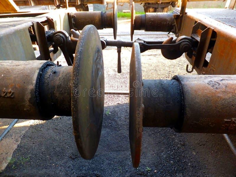 Almacenador intermediario en un carro ferroviario foto de archivo libre de regalías