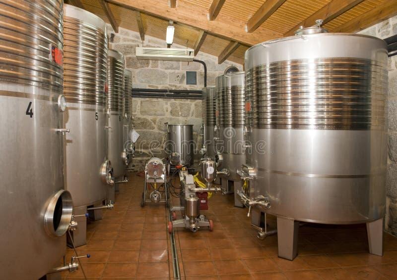 Almacenaje del vino fotos de archivo